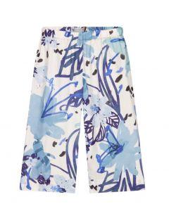 Il Gufo Blue Cotton Floral Trousers