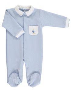 Peter Rabbit Blue Quilted Pocket Babygro