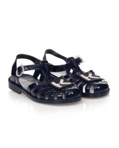 KENZO KIDS Navy Blue Logo Jelly Shoes