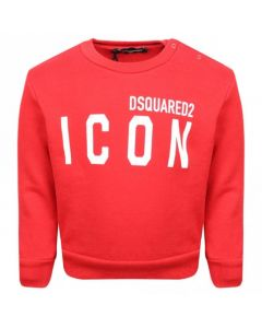 DSQUARED2 Baby Red Icon Logo Top