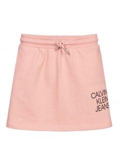 Calvin Klein Jeans Pink Organic Cotton Logo Skirt