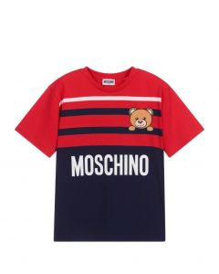Moschino Kid-Teen Blue & Red Teddy Bear T-Shirt
