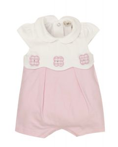 Everything Must Change Pink & White Applique Flowers Shortie