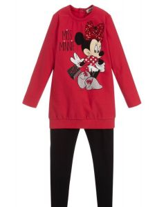Everything Must Change Red Minnie Mouse Leggings Set