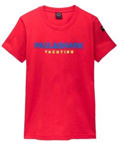 PAUL & SHARK Logo Red  T-Shirt