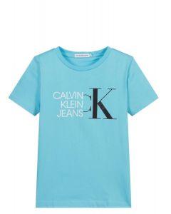 Calvin Klein Jeans Boys Bright Blue Logo T-Shirt