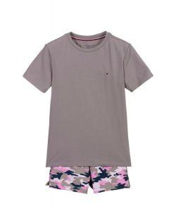 Tommy Hilfiger Grey Camo Cotton Short Pyjamas