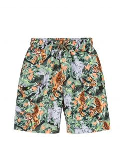 KENZO KIDS Older Boys Green Jungle Swim Shorts
