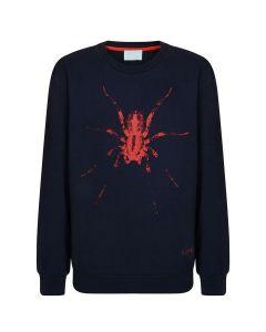 Lanvin Boys Navy Spider Sweatshirt