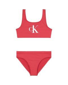 Calvin Klein Pink  Logo Bralette Bikini