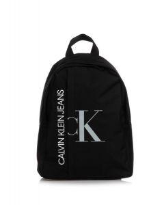 Calvin Klein Jeans Black and Grey Logo Backpack (40cm)