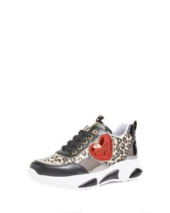 Guess Girls Black Leopard Trainers
