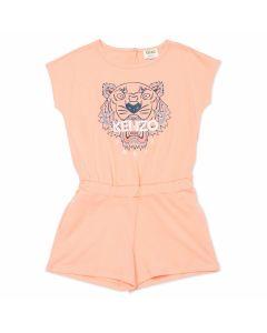 KENZO KIDS Coral Pink Tiger Playsuit