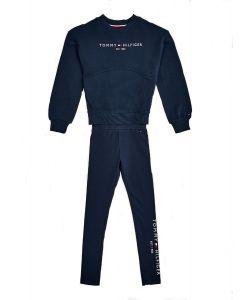 Tommy Hilfiger Navy Blue Organic Cotton Legging Set