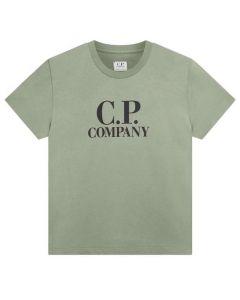 C.P. Company Boys Light Green Printed Hood T-Shirt