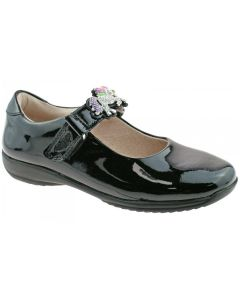 Lelli Kelly Blossom Black Patent Interchangeable School Shoes (F Fitting)