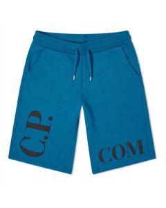 C.P. Company Boys Petrol Blue Logo Shorts
