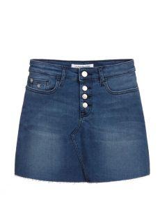 Calvin Klein Jeans Blue Denim Mini Skirt