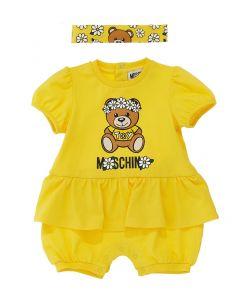 Moschino Baby Yellow Daisy Cotton Shortie Set