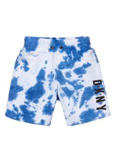 DKNY Blue Tie Dye Logo Shorts