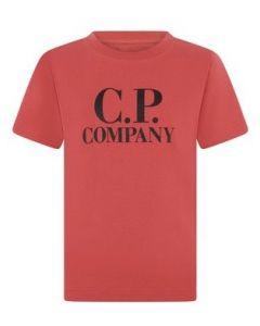C.P. Company Boys Red Printed Hood T-Shirt