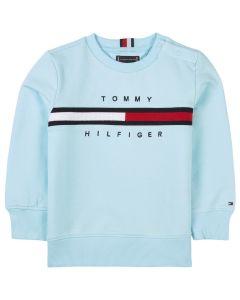 Tommy Hilfiger Boys Pale Blue Organic Cotton Sweatshirt