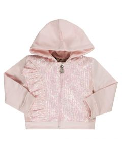 Everything Must Change Pink Sequin Hooded Jacket