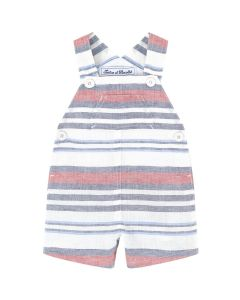 Tartine et Chocolat Boys Striped Linen Mix  Dungarees