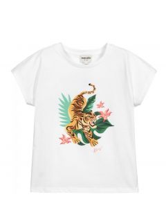 KENZO KIDS White Organic Cotton Island T-Shirt