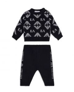 Emporio Armani Baby Boys Jumper And Trousers Set