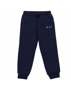 KENZO KIDS Boys Navy Logo Quilted Effect Joggers
