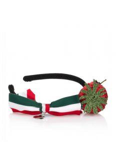 Monnalisa Girls Red & Black Strawberry Hairband