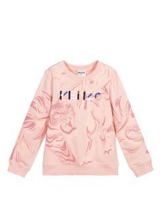 KENZO KIDS Pink Cotton Logo Island Sweatshirt