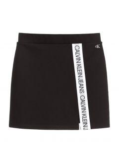 Calvin Klein Jeans Girls Black Taped Logo Skirt