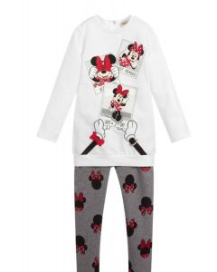 Everything Must Change White  Minnie Mouse Leggings Set