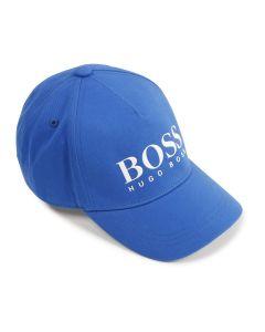 BOSS Kidswear Royal Blue Cotton Logo Cap