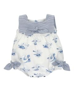 Martin Aranda Girls White & Blue Nautical shortie