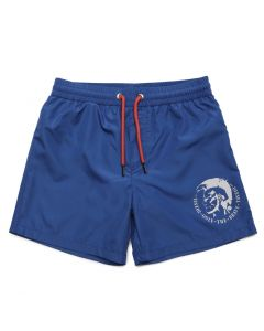 Diesel Bright Blue Logo Swim Shorts