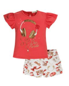 Everything Must Change Red & White Chic Parade Shorts Set