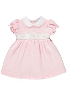 Mini-La-Mode Pink Rose Bud Smocked Dress