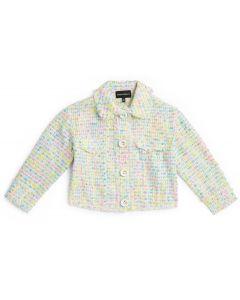Emporio Armani Girls Multi Coloured Tweed Jacket