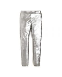 Guess Girls Sparkly Silver Leggings