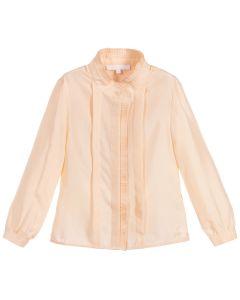 Chloé Girls Peach Silk Blouse