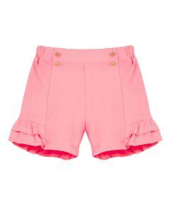 Lili Gaufrette Pink Cotton Jersey Gamma Shorts