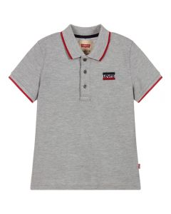 Levi's Boys Grey Cotton Piqué Polo Shirt