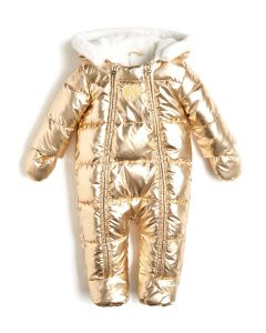 Guess Gold Padded Cotton Pramsuit