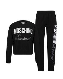 Moschino Couture Kids Black Rinestoned Tracksuit