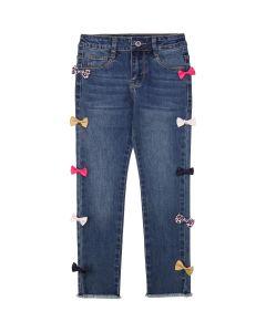 Billieblush Girls Blue Denim Bow Jeans