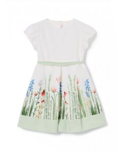 Il Gufo White Cotton Floral Dress