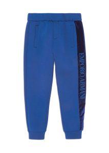 Emporio Armani Boys Blue Velvet Logo Neoprene Joggers